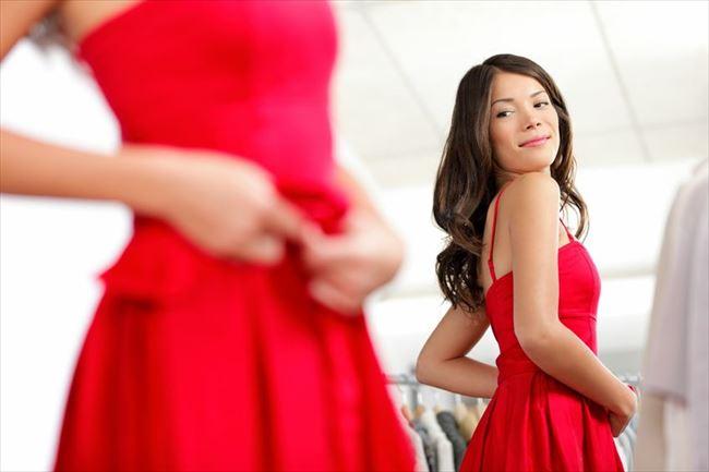 似合うドレス